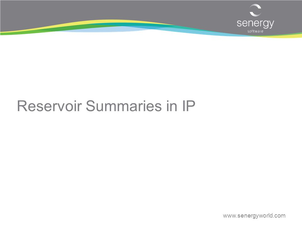 Reservoir Summaries in IP