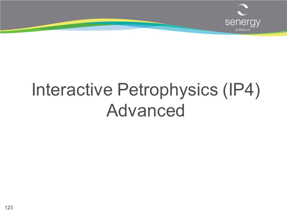 Interactive Petrophysics (IP4) Advanced
