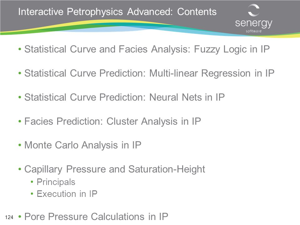 Interactive Petrophysics Advanced: Contents