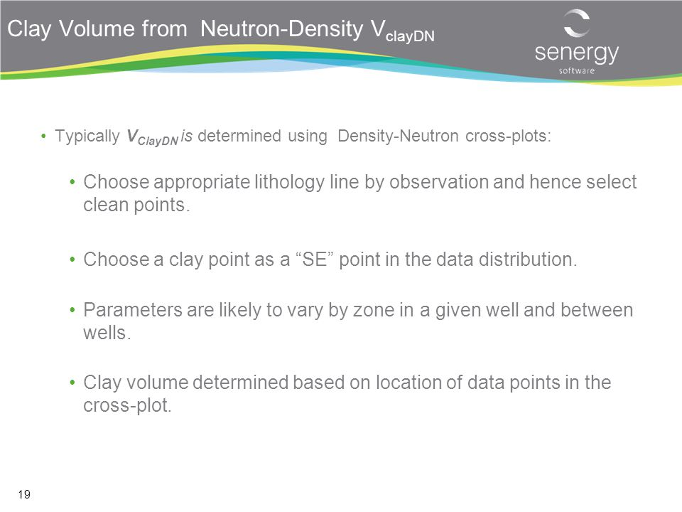 Clay Volume from Neutron-Density VclayDN
