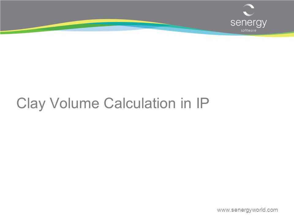 Clay Volume Calculation in IP