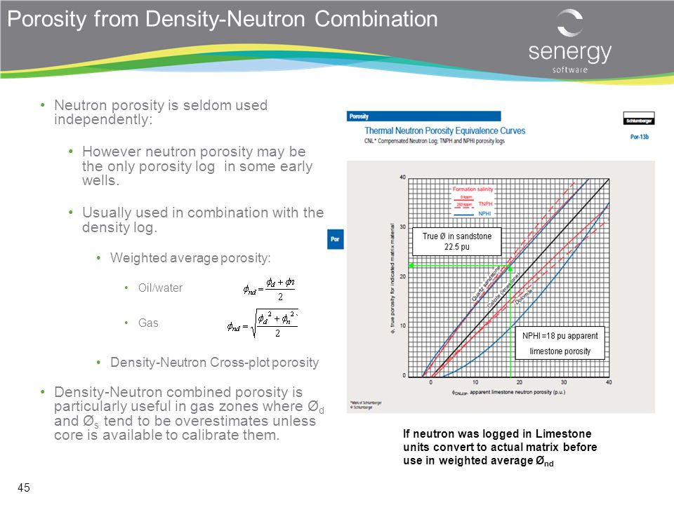 Porosity from Density-Neutron Combination
