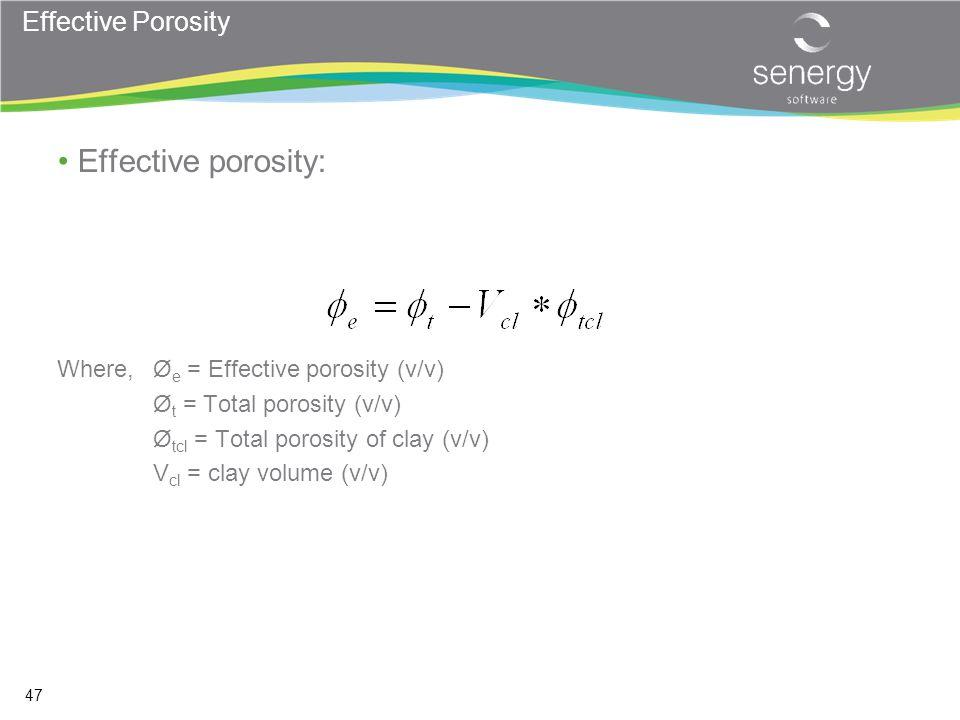 Effective porosity: Effective Porosity