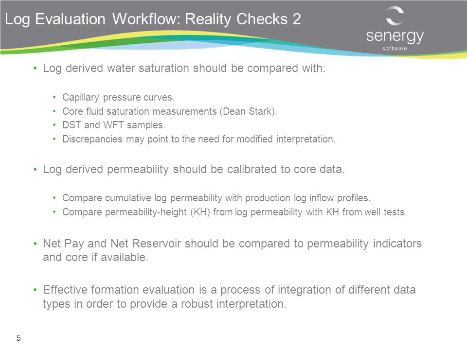 Log Evaluation Workflow: Reality Checks 2