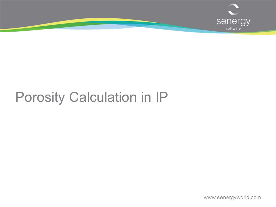 Porosity Calculation in IP
