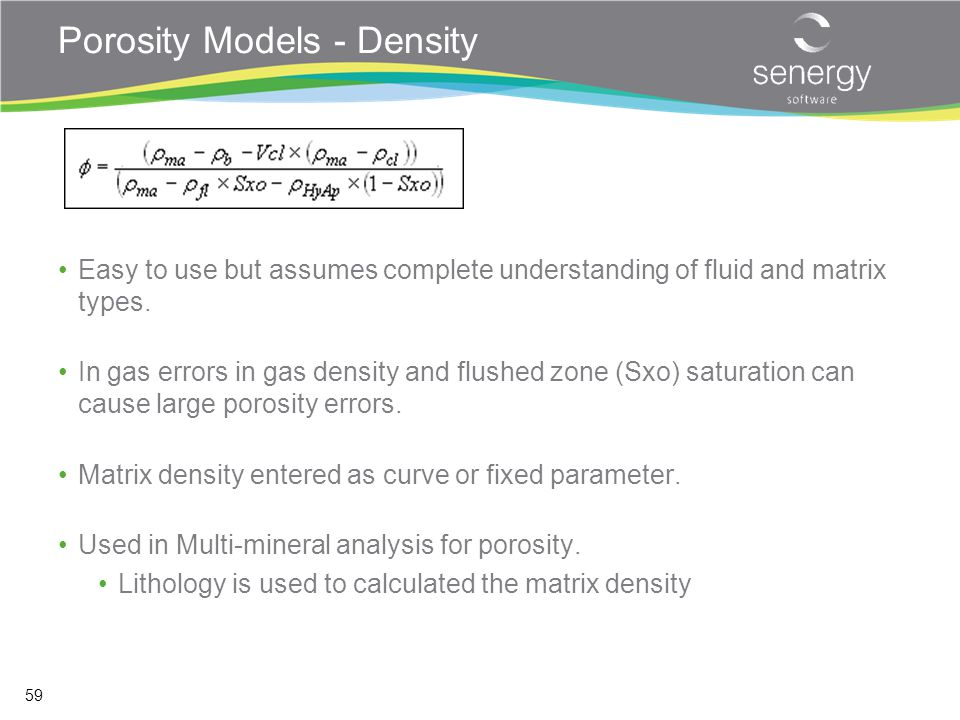 Porosity Models - Density