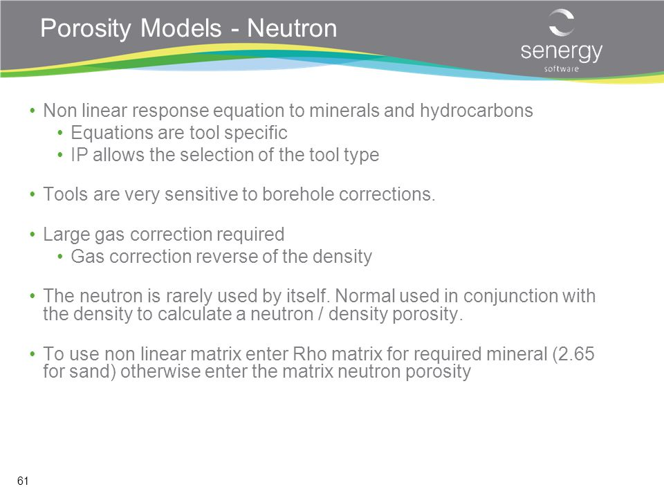 Porosity Models - Neutron