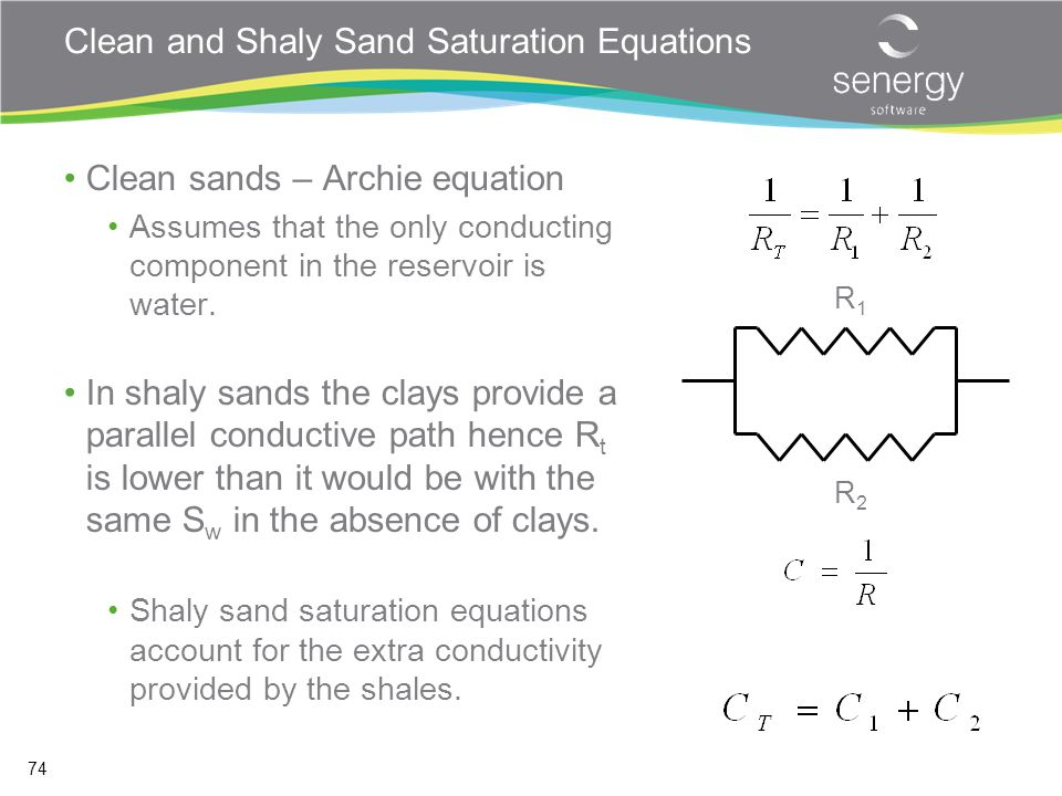 Clean and Shaly Sand Saturation Equations