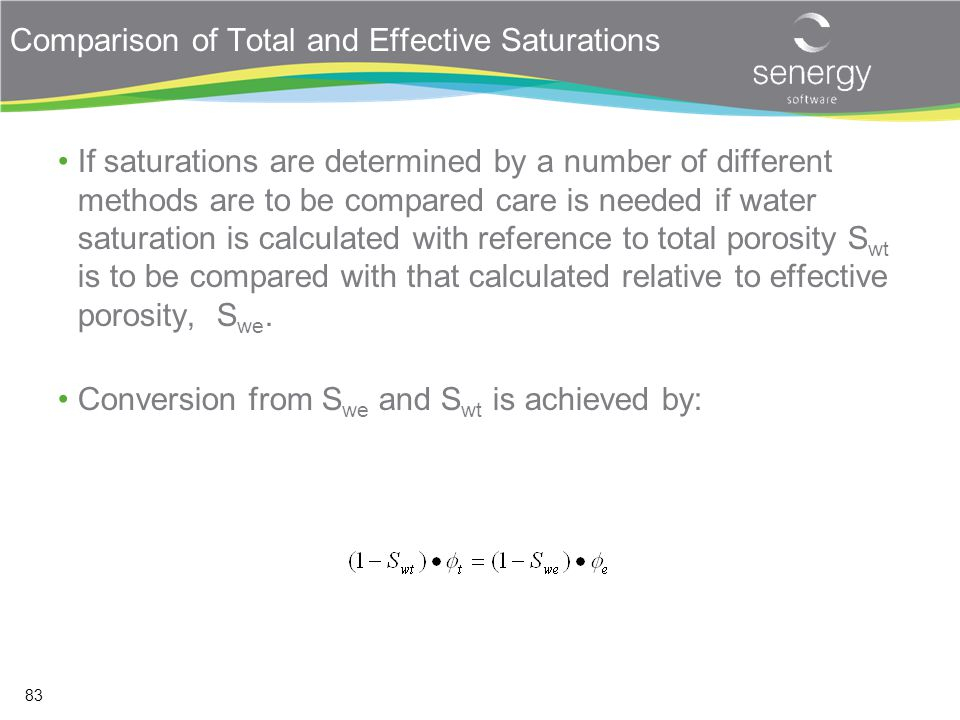 Comparison of Total and Effective Saturations