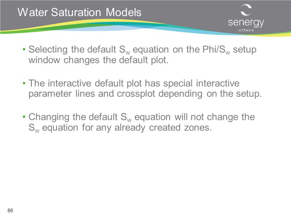 Water Saturation Models