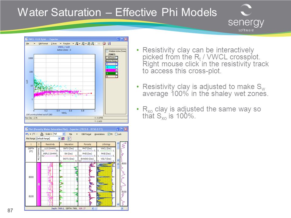 Water Saturation – Effective Phi Models