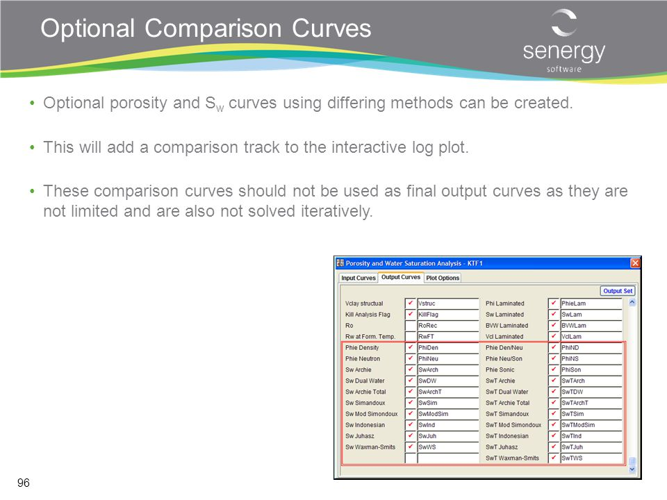 Optional Comparison Curves