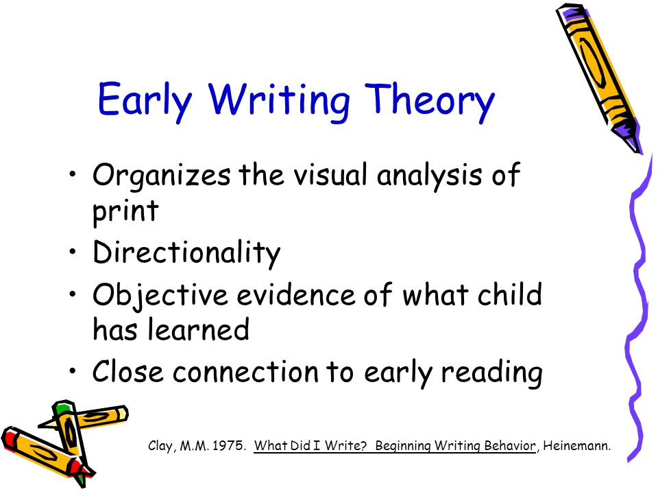 Early writing a developmental approach to assessment