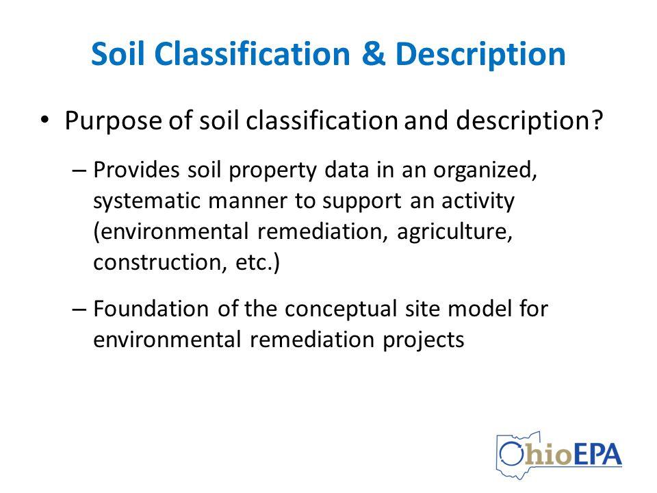 Using soil classification description data ppt video for Soil description