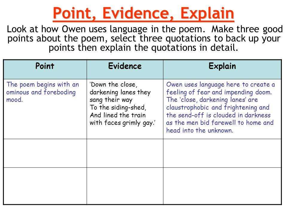 how to explain a poem