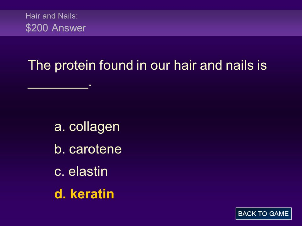 Hair and Nails: $200 Answer