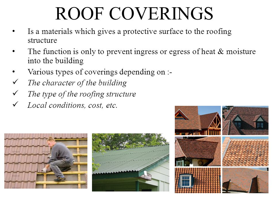 22 ROOF COVERINGS Is A Materials ...