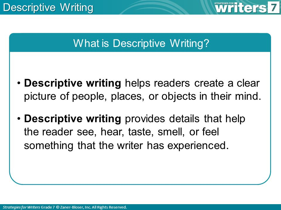 what is descriptive writing ppt  what is descriptive writing