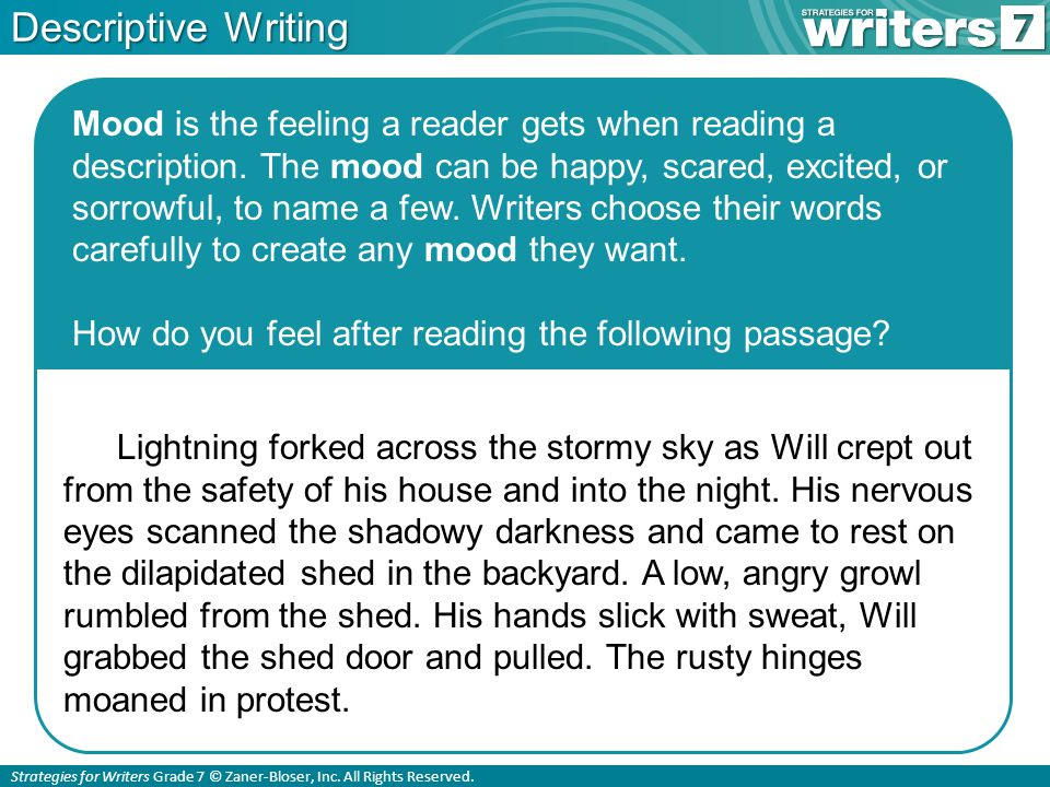 WRITING: DESCRIPTIVE ESSAY - Blogger