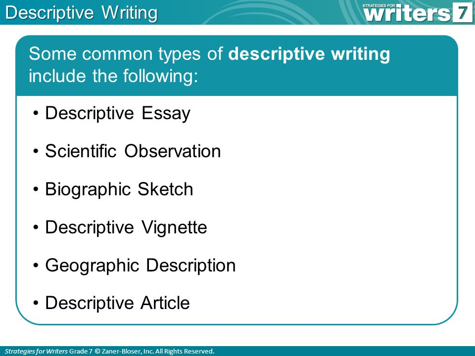 what is descriptive writing ppt  13 descriptive writing some common types