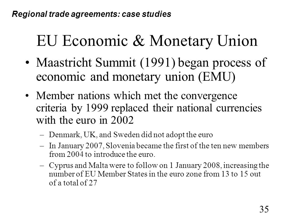 economic and monetary union eu Economic governance under emu: the players and for the world, the euro is a responsibility for emu is divided between eu member states and eu institutions major new pillar in the international comprised of eu heads of state and government member states each establish national budgets monetary system and a pole of and the president of the .