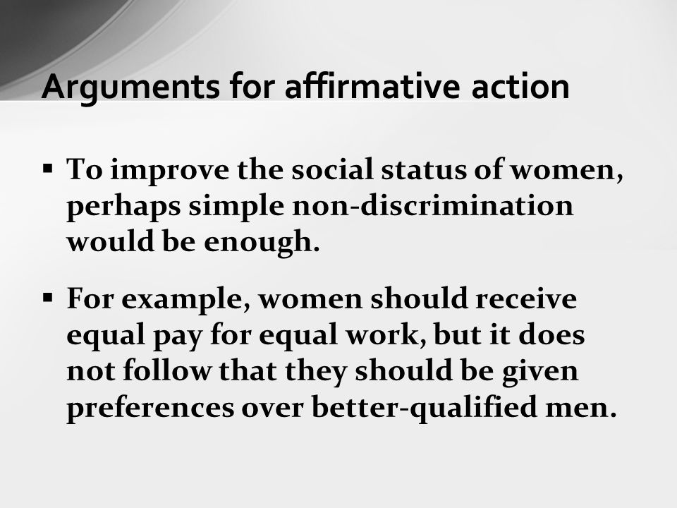 affirmative action in america discrimination in the present as a resolution to discrimination in the Understanding prejudice and discrimination  & jones, r (1996) assessing affirmative action: past, present, and future  a new vision of race in america.