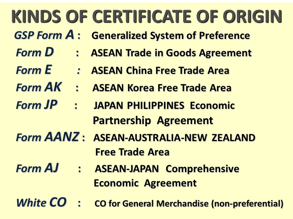 Doing business in free trade areas ppt video online download kinds of certificate of origin yadclub Images