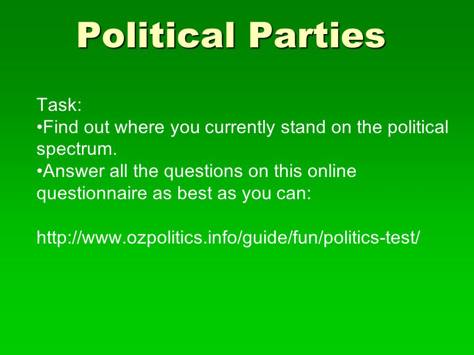 Political Parties Task: