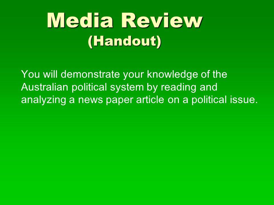Media Review (Handout)