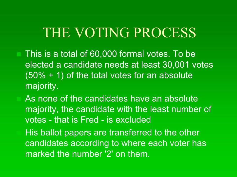 THE VOTING PROCESS