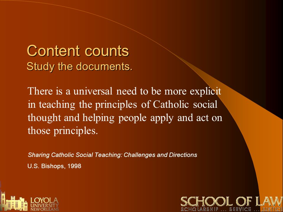 an analysis of catholic social teaching and the nike corporations 101 persuasive essay topics by: should large businesses and corporations be required to employee a number of minorities proportionate to the population.