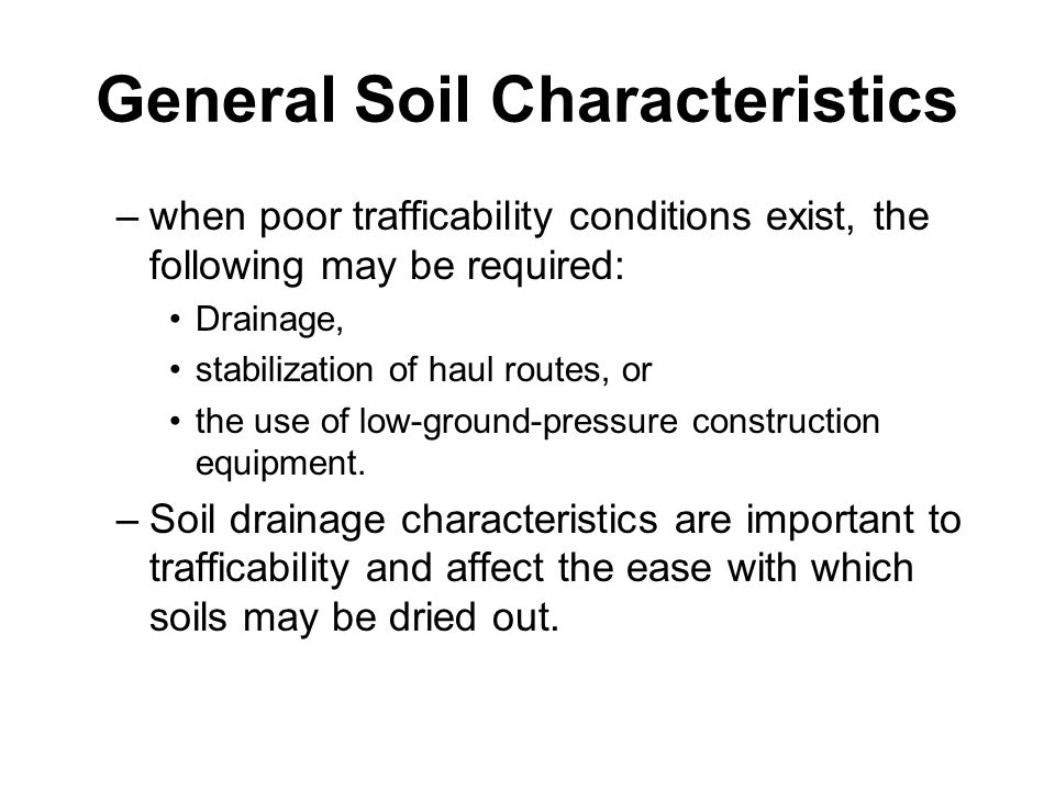 Earthmoving materials and operations ppt download for What are soil characteristics