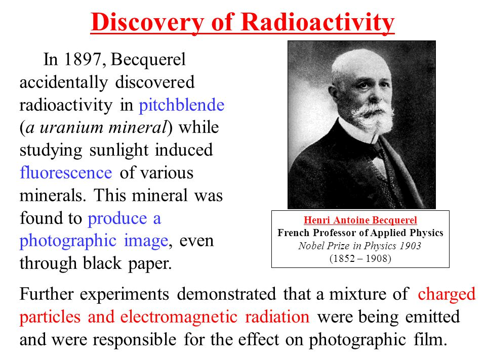 discovery of radiation and radioactivity essay Radioactivity lesson plans and worksheets from learners read a short selection about antoine henri becquerel who accidentally discovered radioactivity they the video explores different theories about the temperature of the earth through time the discovery of radiation altered.