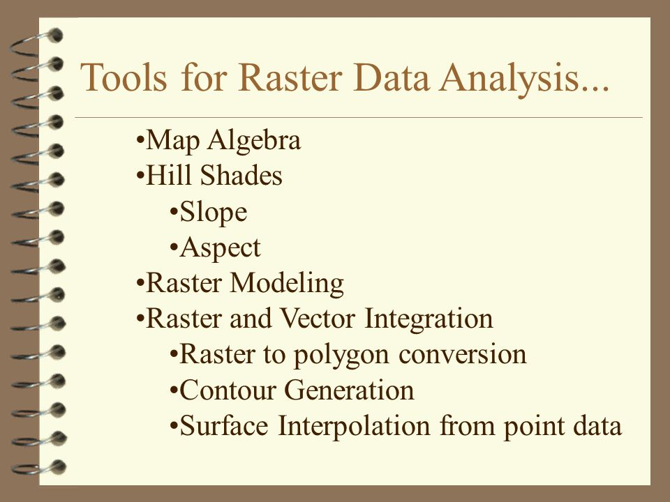 Tools for Raster Data Analysis...