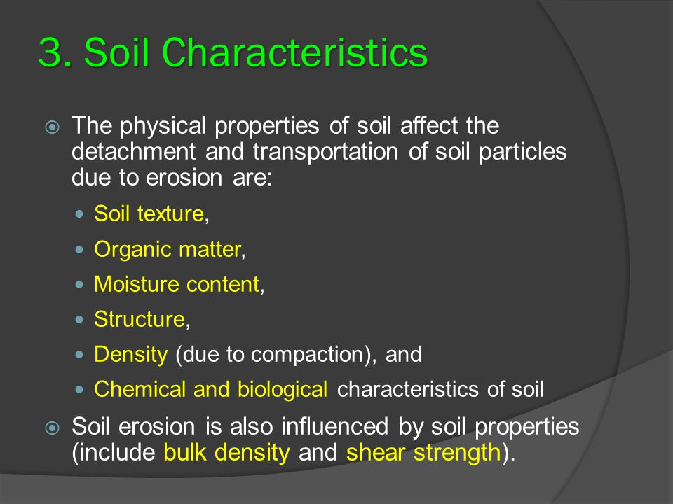 Ert 349 soil and water engineering ppt video online download for What are soil characteristics