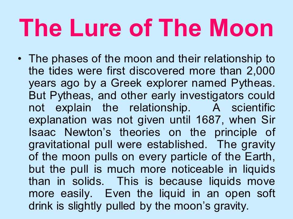 relationship between phases of the moon and tides