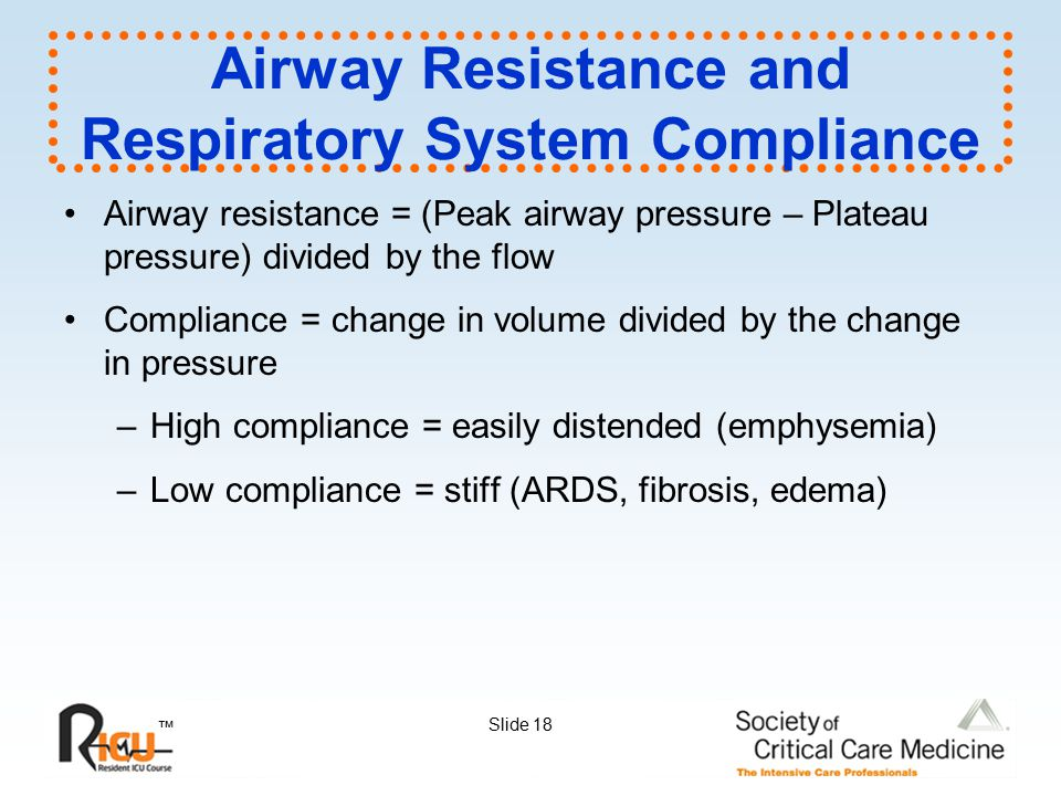 Airway Resistance and Respiratory System Compliance