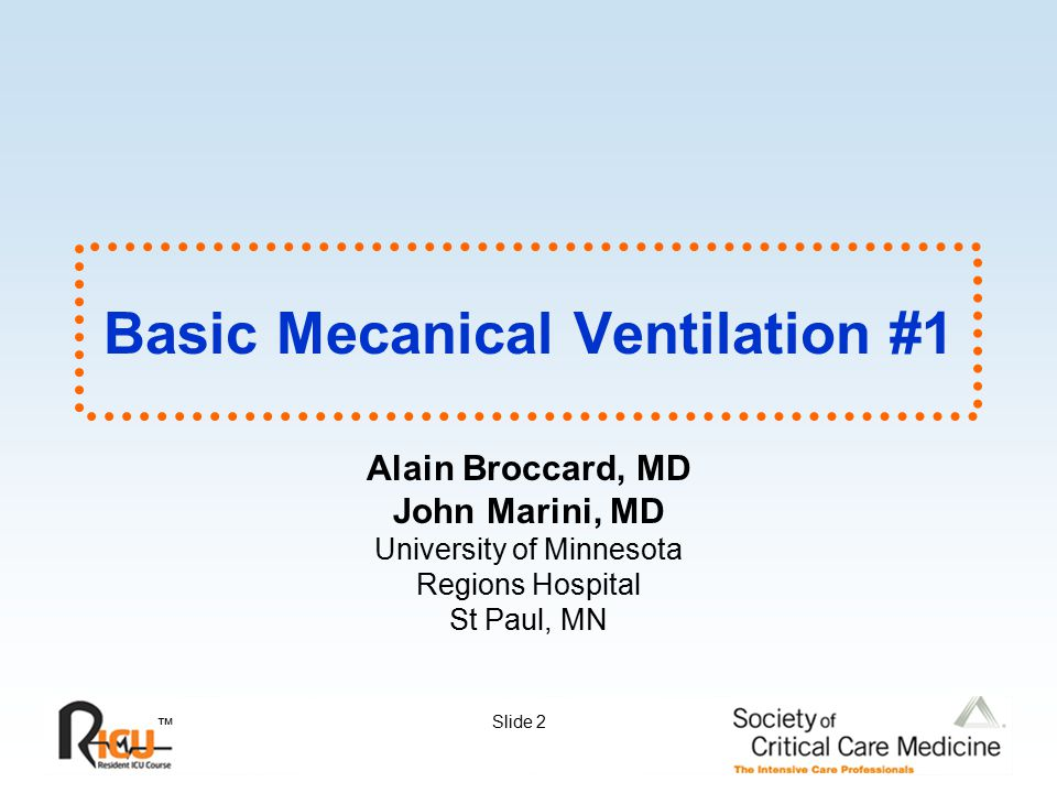 Basic Mecanical Ventilation #1