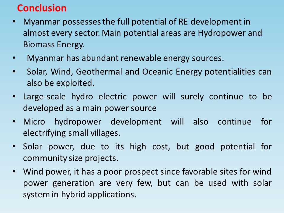Solar energy conclusion ppt