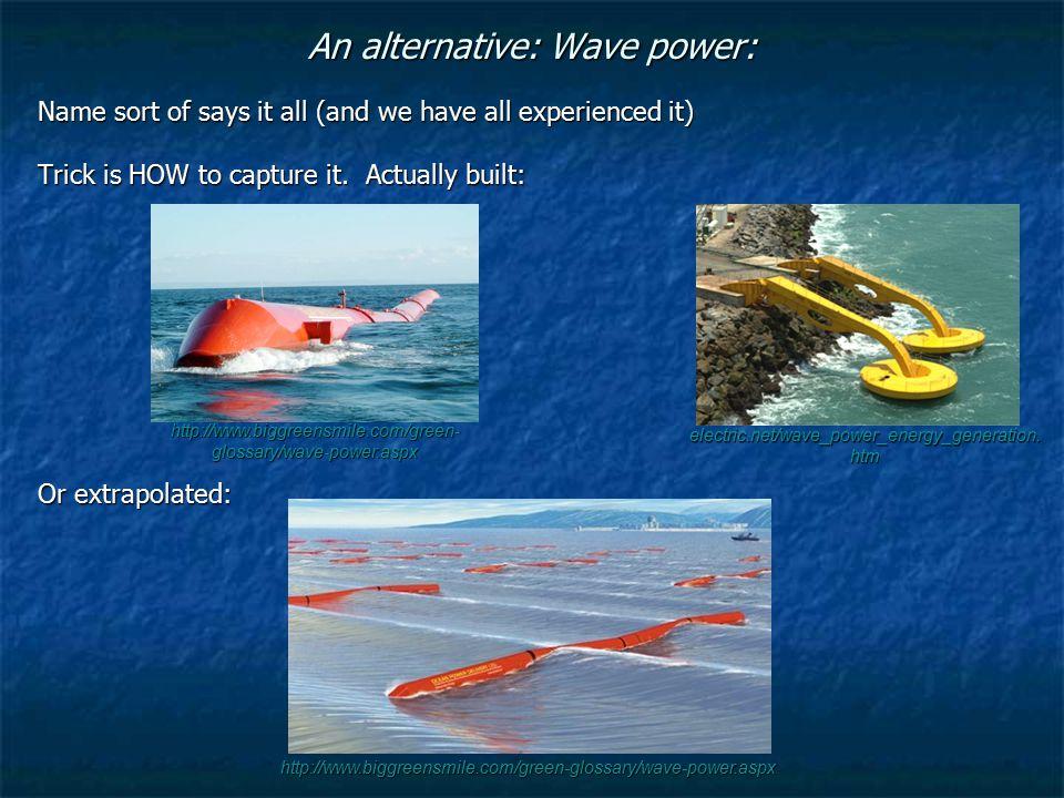 An alternative: Wave power: