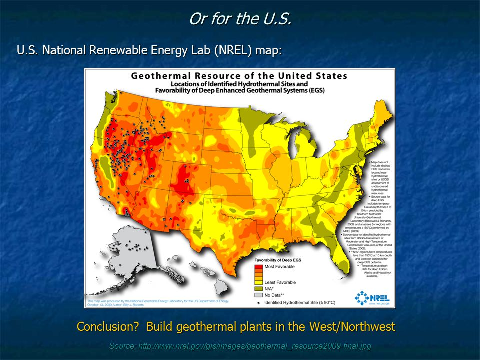 Conclusion Build geothermal plants in the West/Northwest