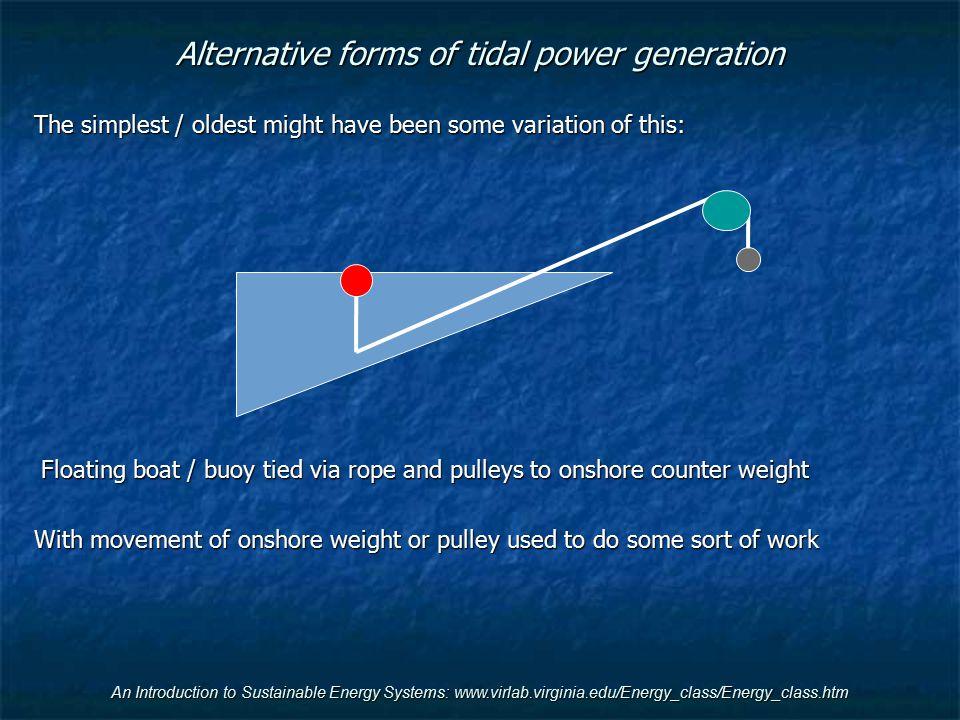 Alternative forms of tidal power generation