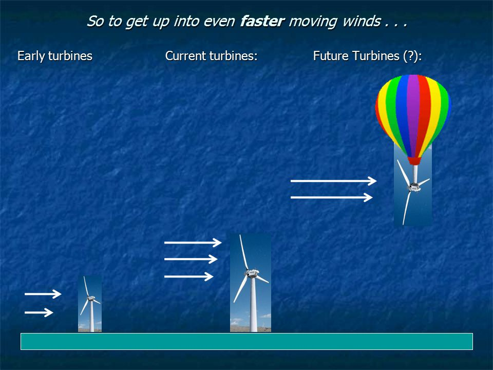 So to get up into even faster moving winds . . .