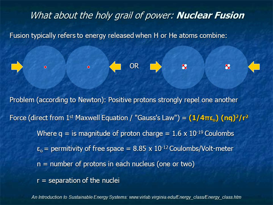 What about the holy grail of power: Nuclear Fusion