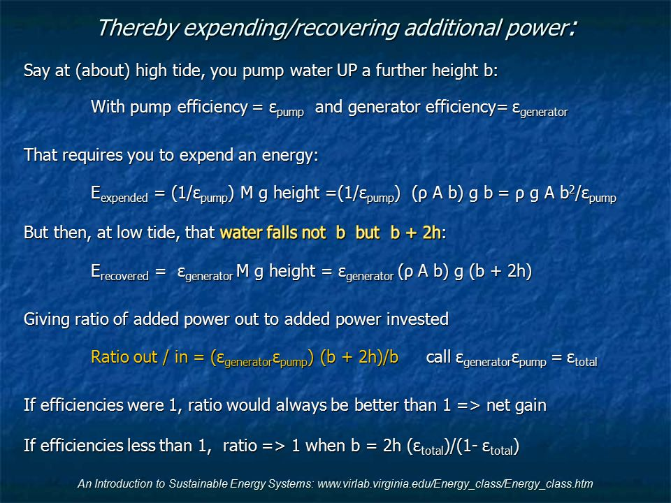 Thereby expending/recovering additional power: