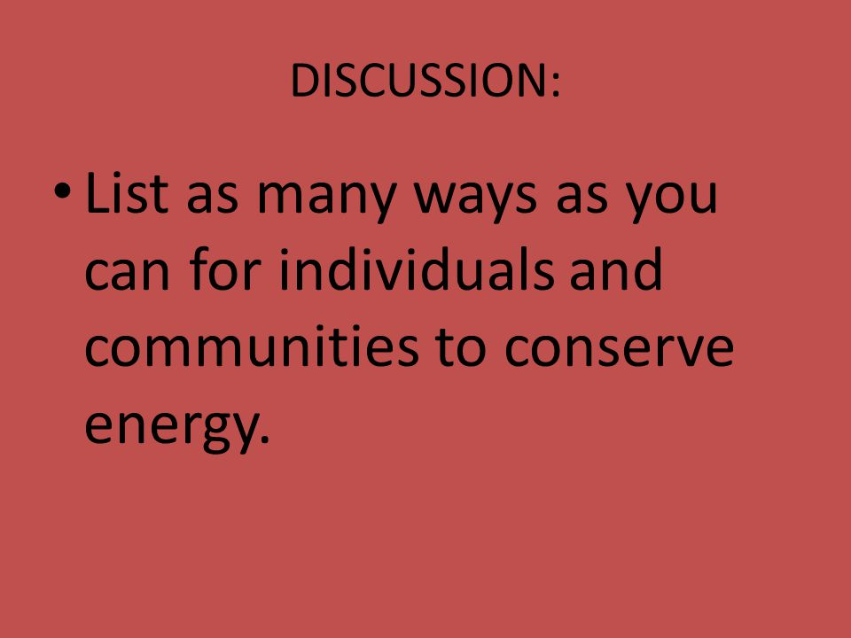 18 1 overview ppt download for Ways you can save energy