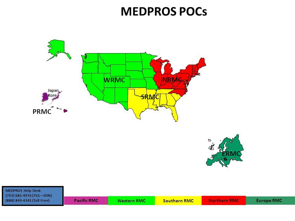 Medpros Pocs Wrmc Nrmc Srmc Prmc Ermc Wramc Pacific Rmc Western