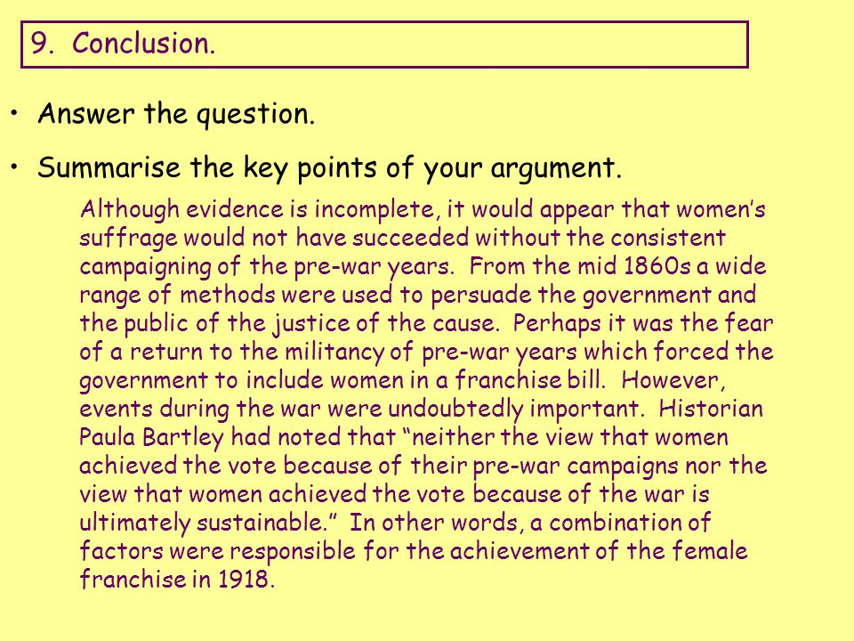 Lesson 3: Argumentative Essays and Women's Fight for Equality