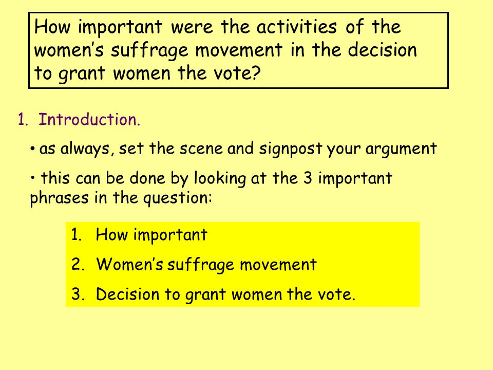 women suffrage essay example Women's suffrage essay example - women's suffrage women's suffrage is a subject that could easily be considered a black mark on the history of the united states.