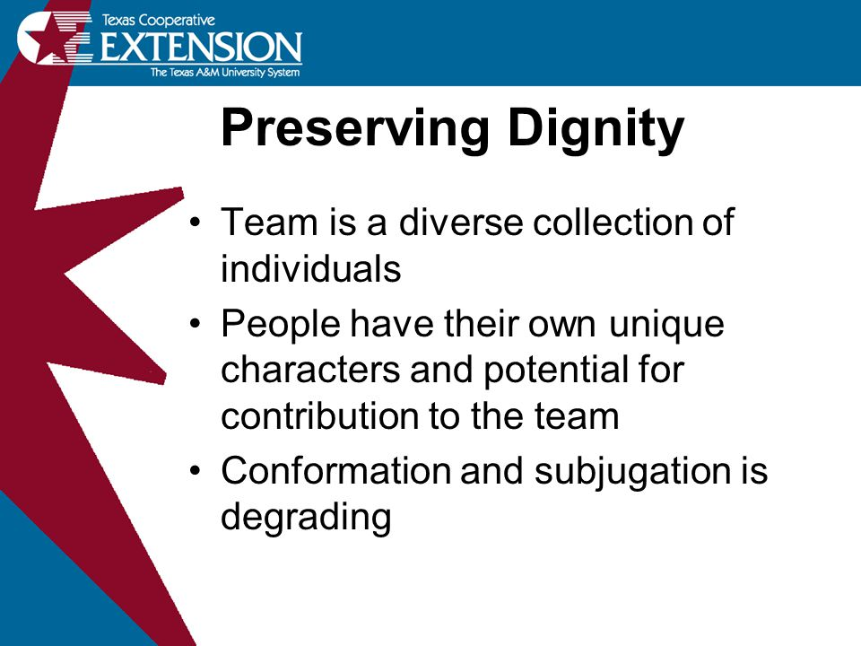 Preserving Dignity Team is a diverse collection of individuals